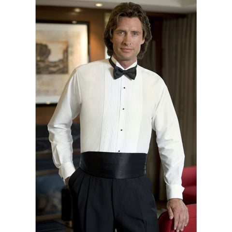 Wing Collar Tuxedo Shirt for Package - Polyester / Cotton Blend