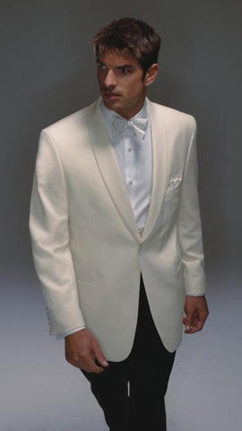Men's Off White Wool Dinner Jacket by Hardwick