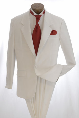 White Tuxedo - 2 Button Tuxedo Jacket with Notch Lapel