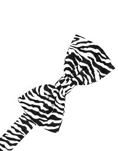 Zebra Print Formal Bow Tie