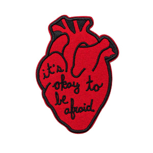 It's Okay To Be Afraid Anatomical Heart Patch