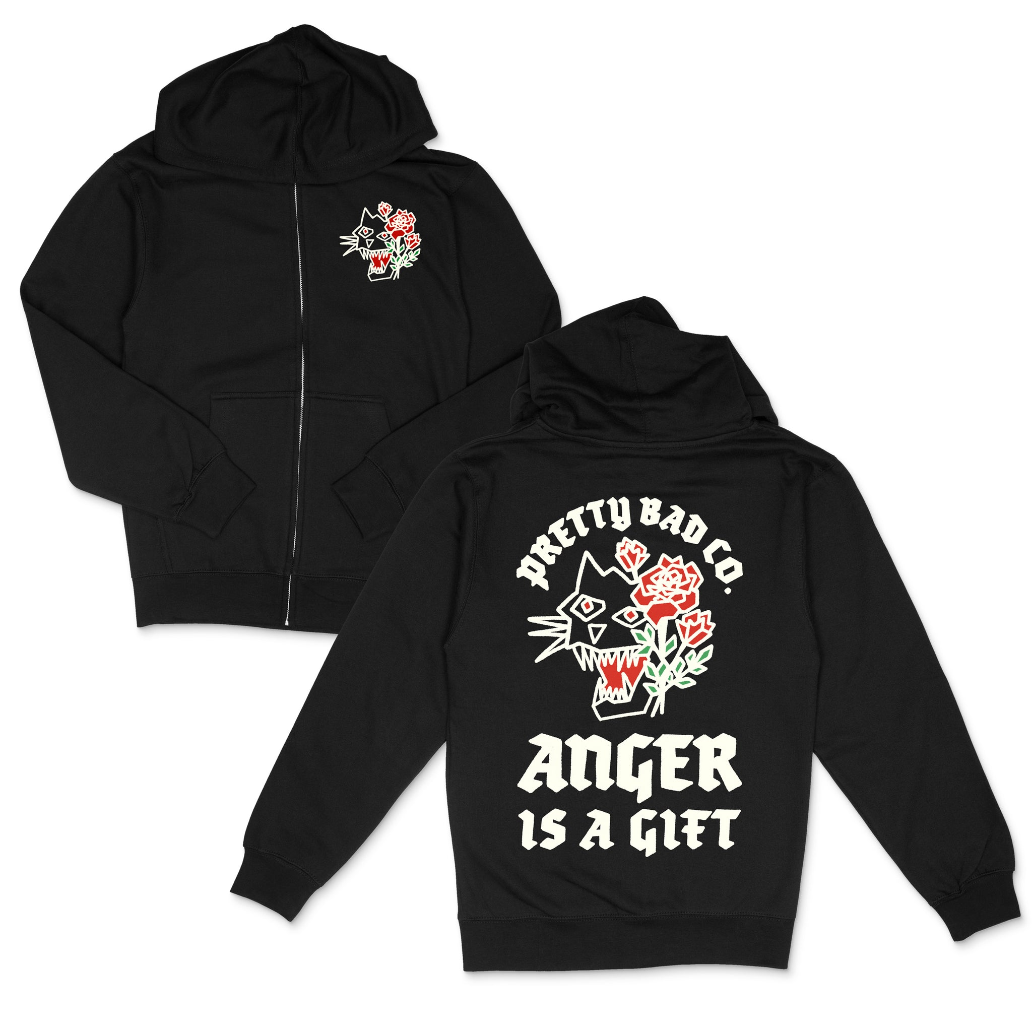 Anger Is A Gift Zip Up Hoody