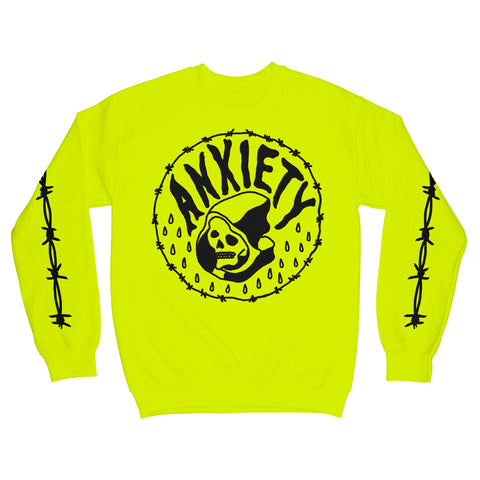 Anxiety Sweatshirt Safety Yellow Green