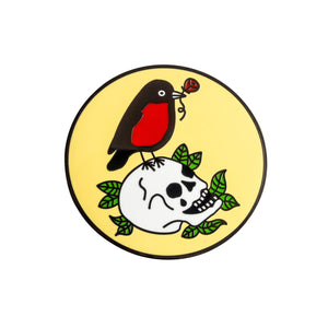 Red Robin and Skull Pin
