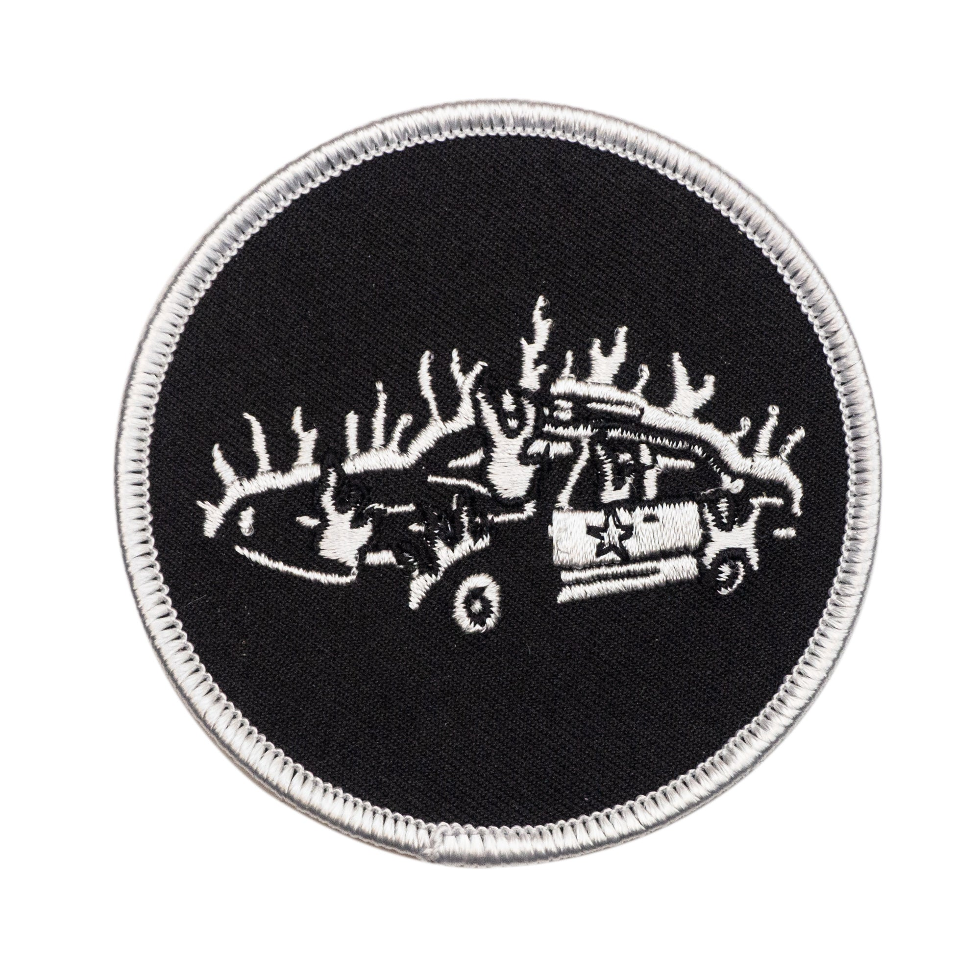 Burning Cop Car Patch