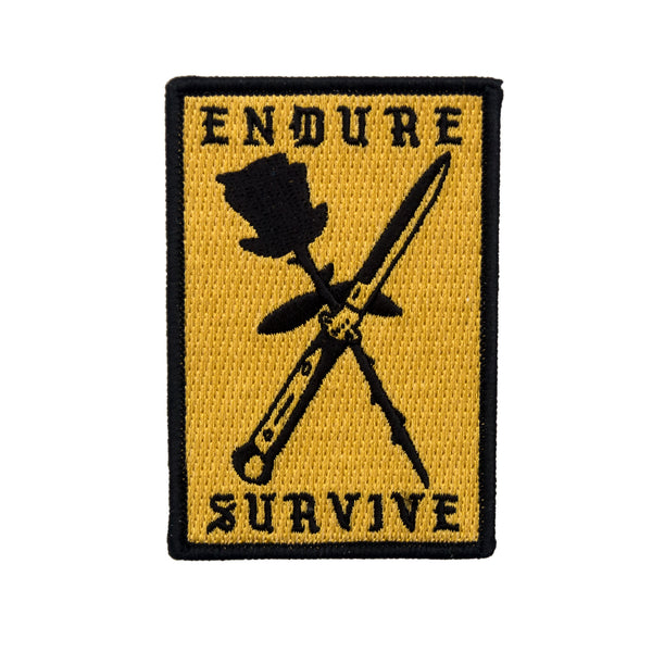 Endure Survive Rose and Switchblade Patch