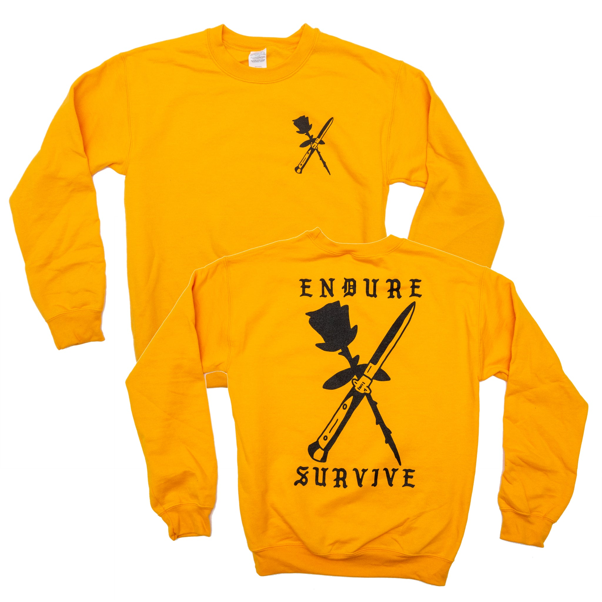 Endure Survive Rose and Switchblade Crewneck Sweatshirt