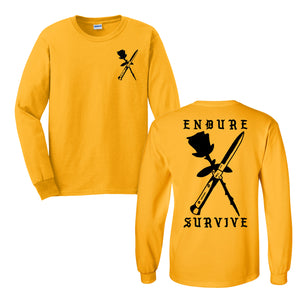 Endure Survive Rose and Switchblade Long Sleeve Tee