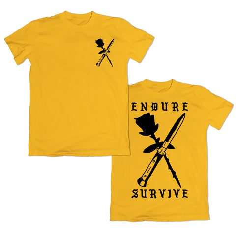 Endure Survive Rose and Switchblade T-Shirt