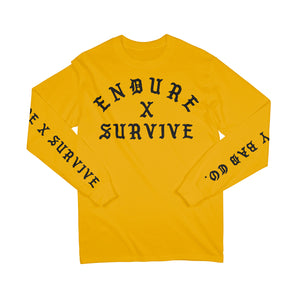 Endure x Survive Long Sleeve T-Shirt Gold