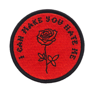 I Can Make You Hate Me Red Patch