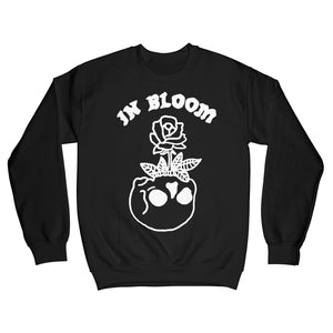 In Bloom Sweatshirt White on Black