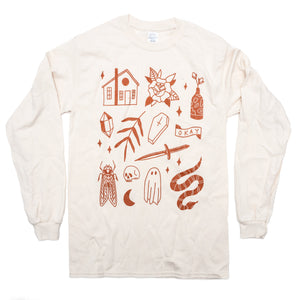Residential Ghost Things Long Sleeve Tee