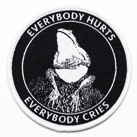 Sad Frog Patch. Everybody Hurts Everybody Cries.