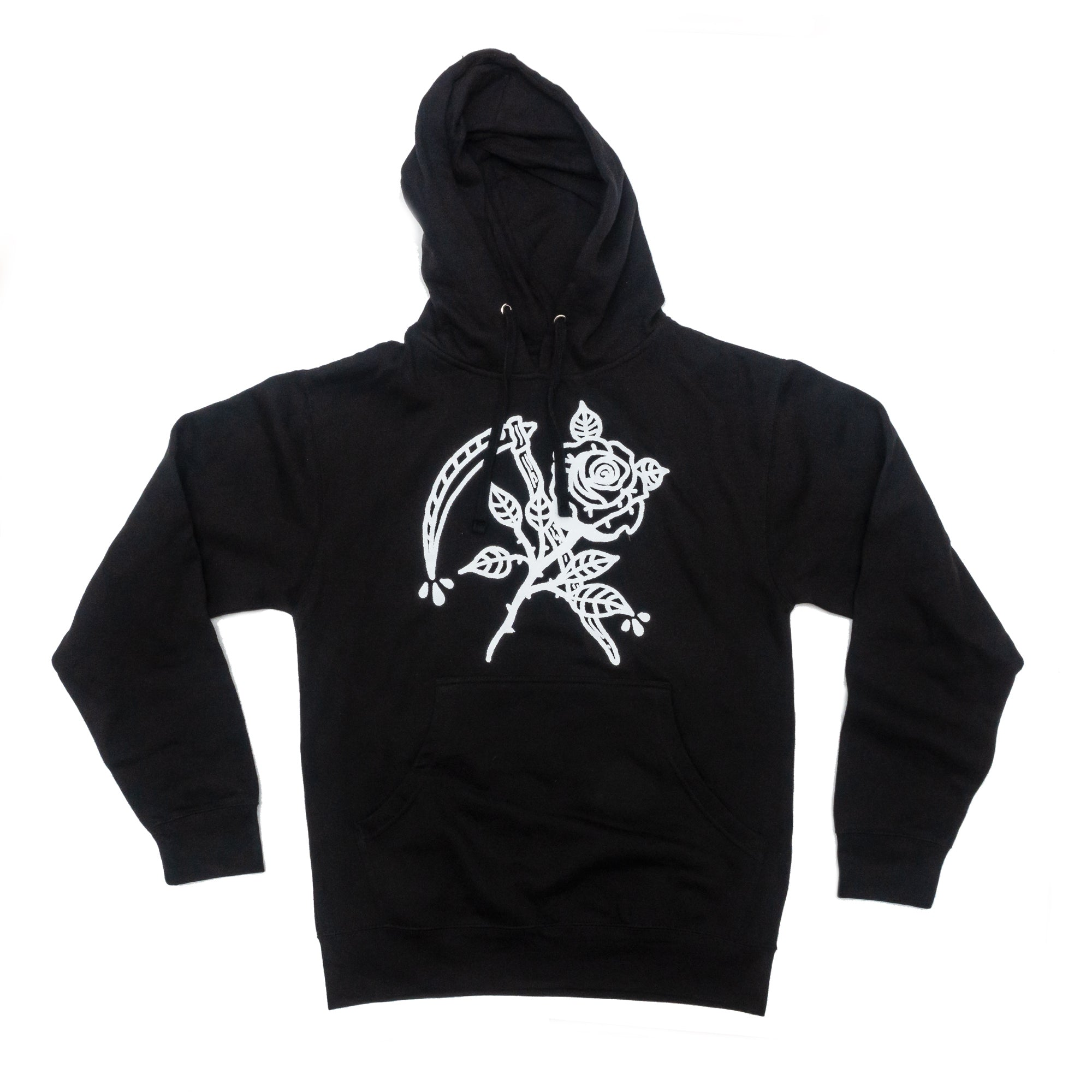 Rose and Scythe Pullover Hooded Sweatshirt