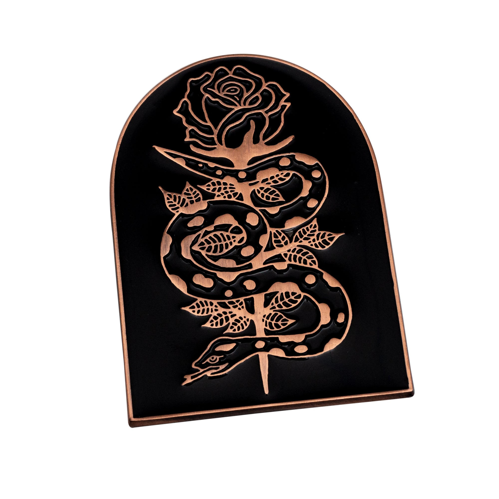 Snake and Rose Pin