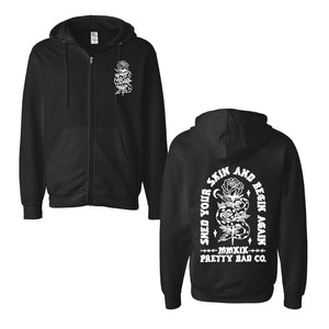 Shed Your Skin Zip Up Hoody Black