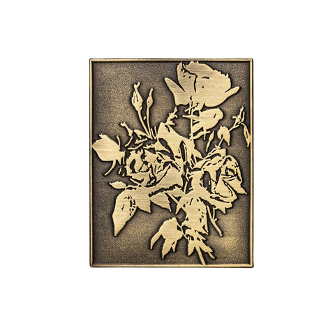 Antique Gold Roses Pin