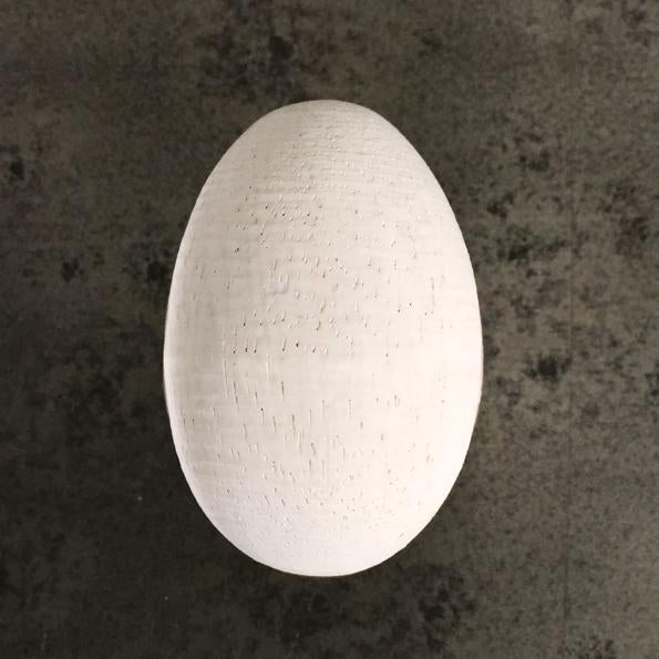 Corinne Lapierre whitewashed wooden egg