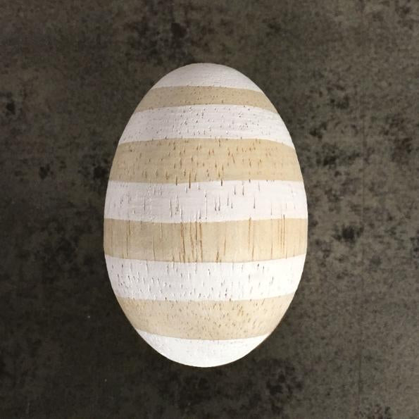 Corinne Lapierre striped wooden egg