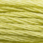 Corinne Lapierre DMC thread skein Light Anise Green 3819