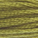 Corinne Lapierre DMC thread skein Light Olive Green 733