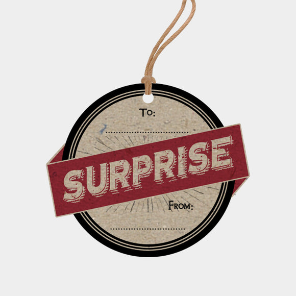 'Surprise' Gift Tags - Pack of Six