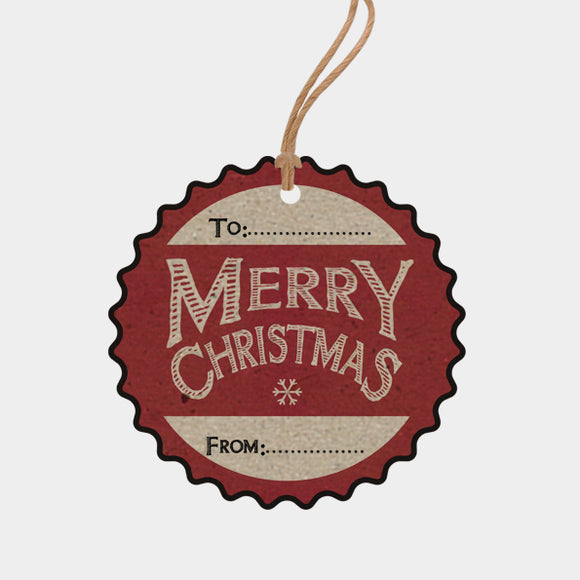 East of India Merry Christmas Gift Tag