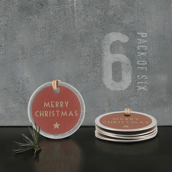 Corinne Lapierre Merry Christmas Metal Edge Gift Tag