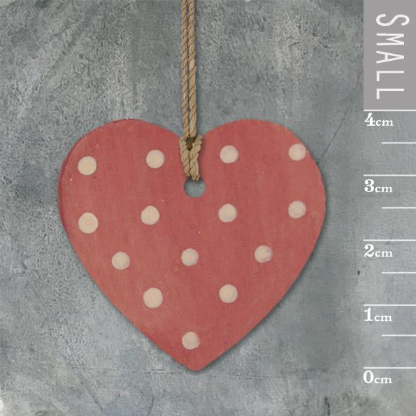 Corinne Lapierre Dotty Red Heart Tag