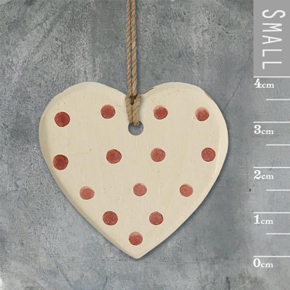 Corinne Lapierre Dotty Cream Heart Tag