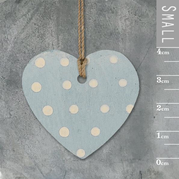 Corinne Lapierre Dotty Duck Egg Blue Heart Tag