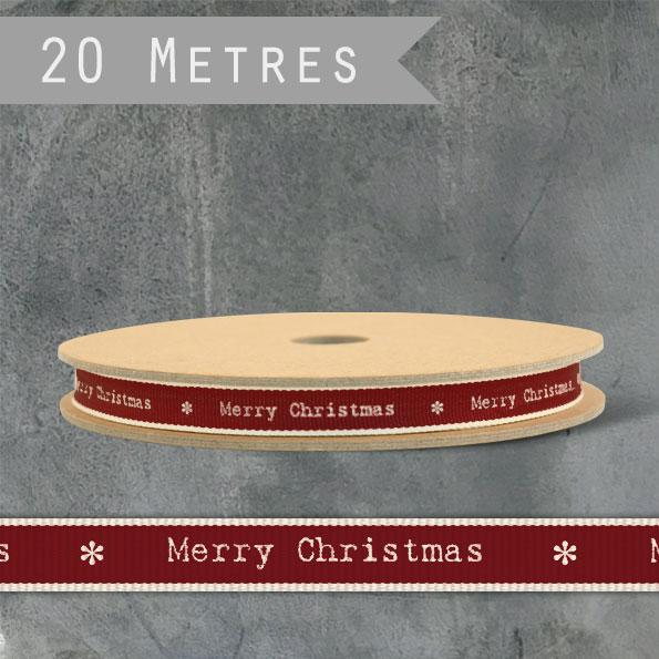 Corinne Lapierre message ribbon 'Merry Christmas' 20m