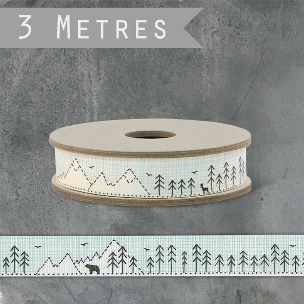 Corinne Lapierre Polar Bear and Mountain Ribbon - by East of India