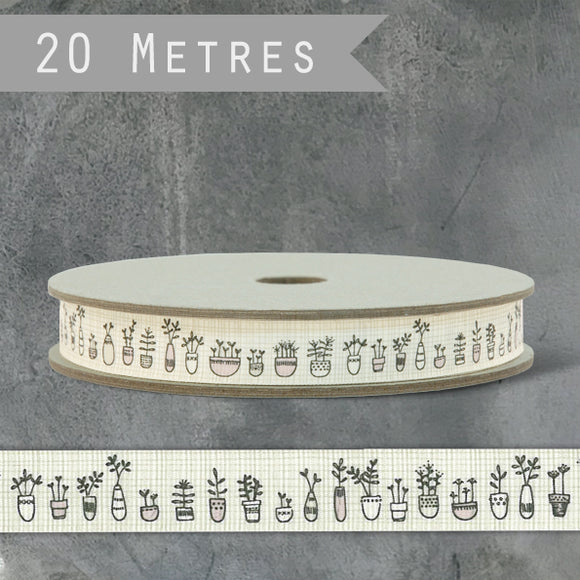 20m reel patterned grosgrain ribbon