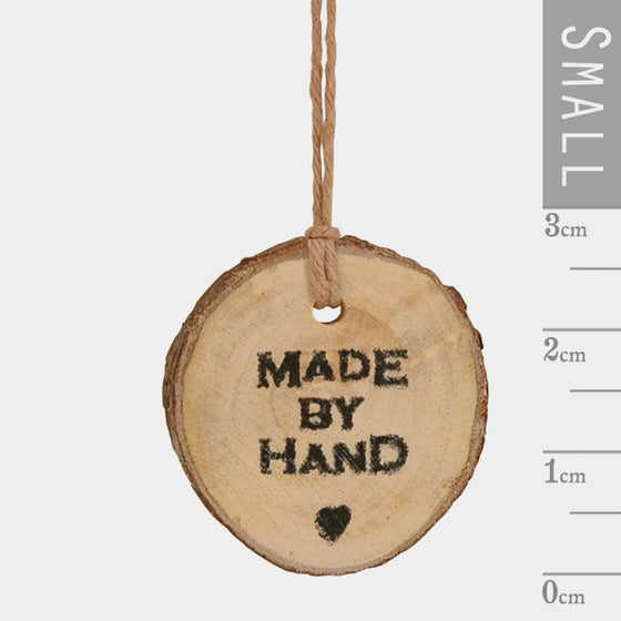 'Made by Hand' Wooden Gift Tag