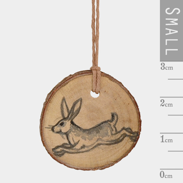 Corinne Lapierre Round Woodland Tag - Hare