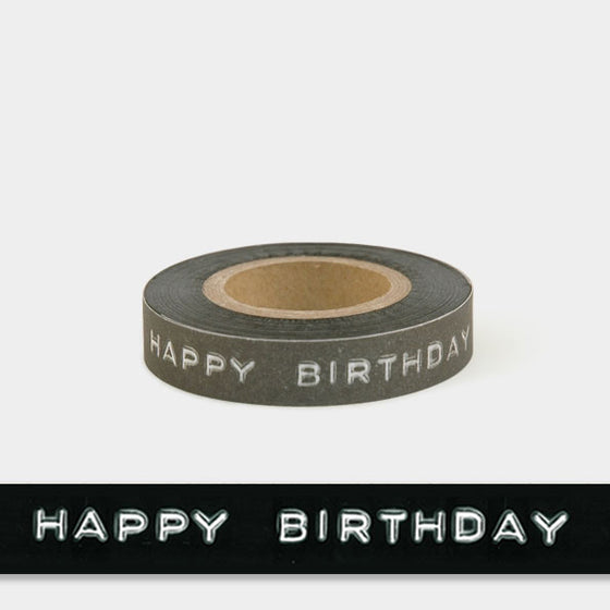 Corinne Lapierre printed message tape 'Happy Birthday'