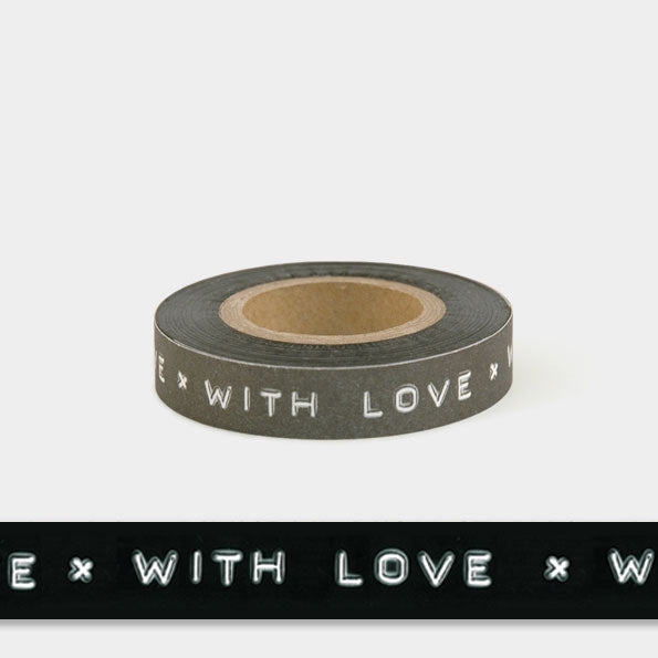 Corinne Lapierre printed message tape 'With Love'