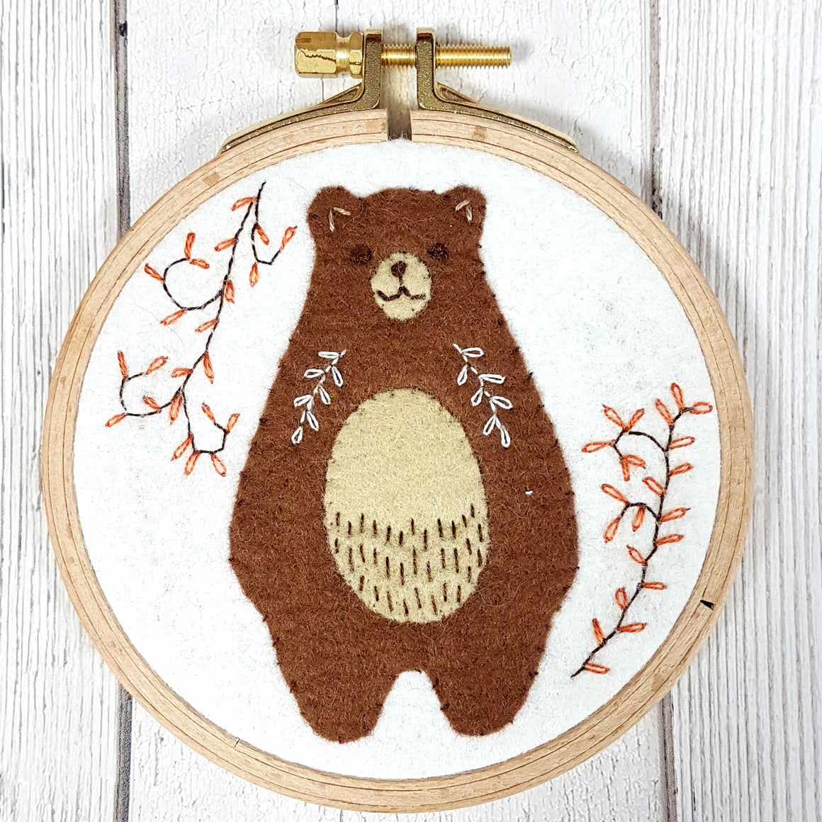 Corinne Lapierre applique folk bear mini kit