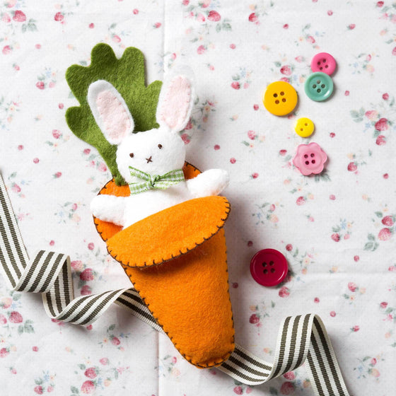 Corinne Lapierre Bunny in Carrot Bed Felt Craft Kit