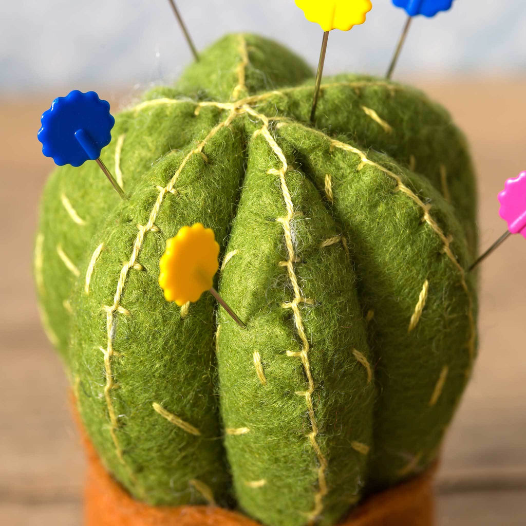 Corinne Lapierre Cactus Pincushion Felt Craft Kit Detail