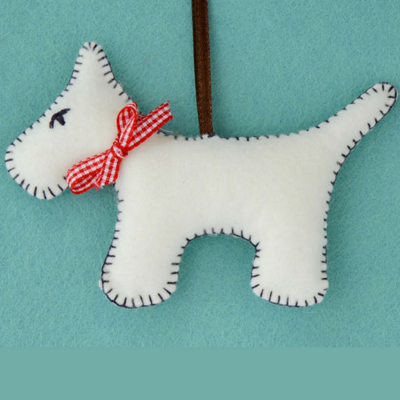 Corinne Lapierre Felt Craft Kit Grey Dog