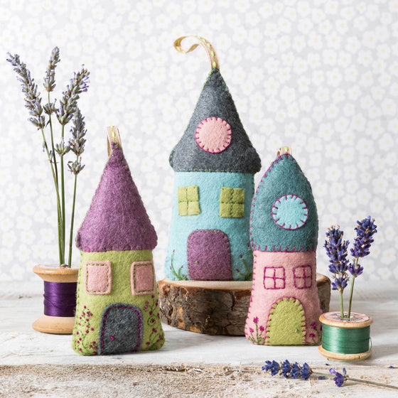 Corinne Lapierre Lavender Houses Felt Craft Kit