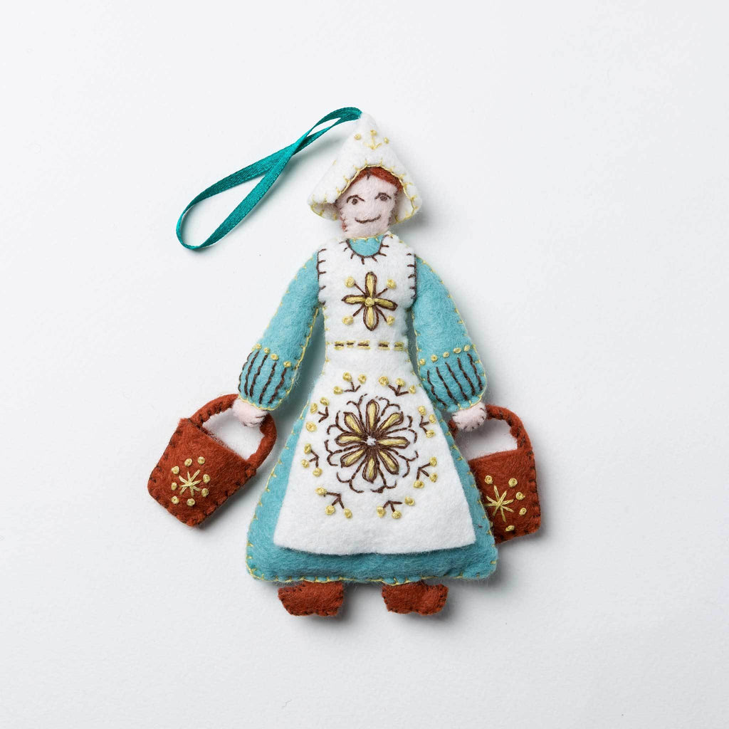 Lapierre Maid a-Milking from 12 Days of Christmas Felt Craft Kit