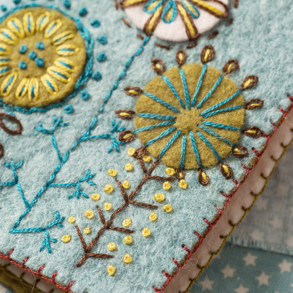 Corinne Lapierre Sewing Pouch Felt Craft Kit Embroidery Detail