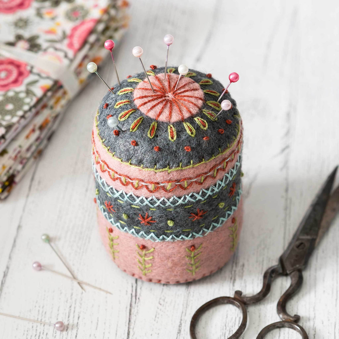 Corinne Lapierre Felt Pin Cushion Embroidery Craft Kit