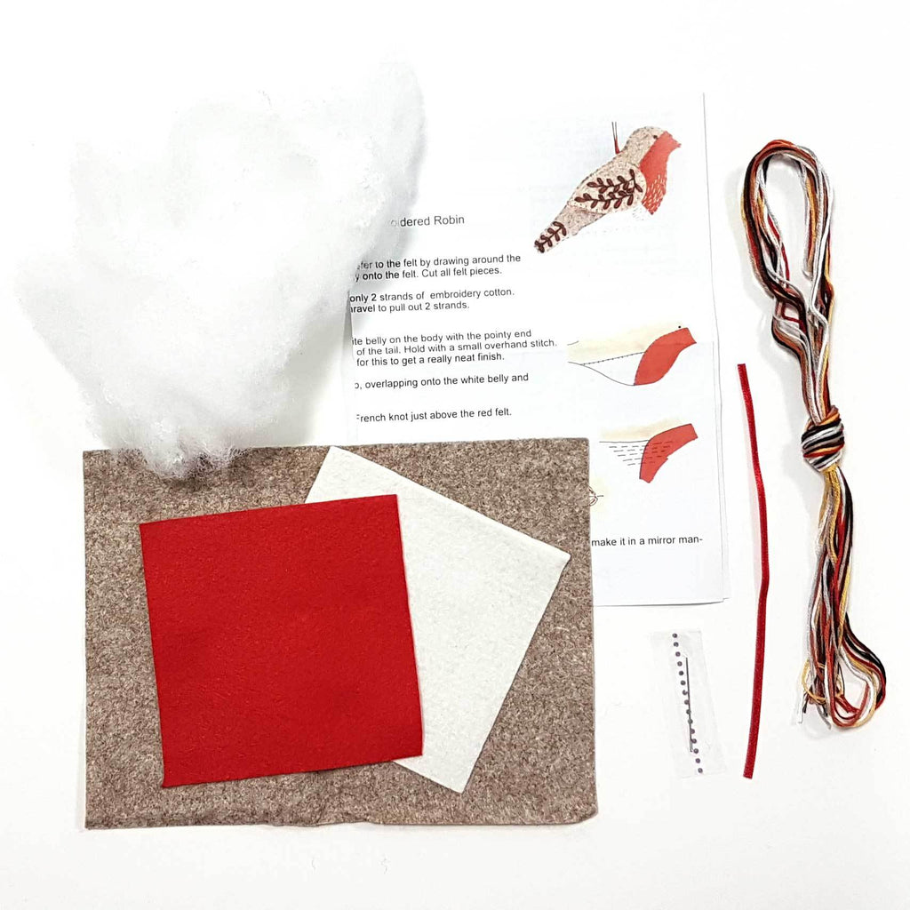 Corinne Lapierre Robin Felt Craft Kit Contents