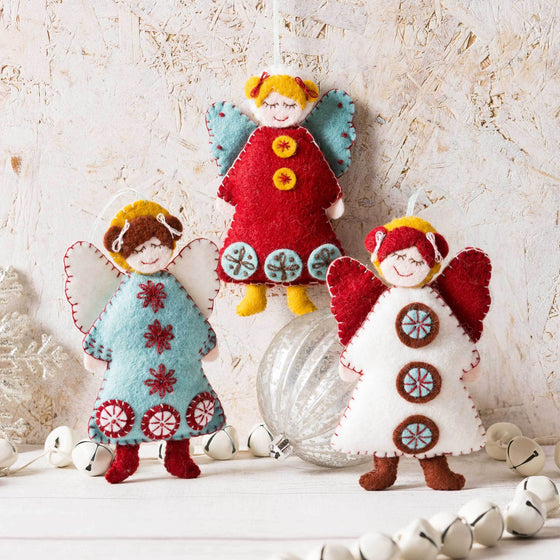 Corinne Lapierre Scandinavian Angels Felt Craft Kit
