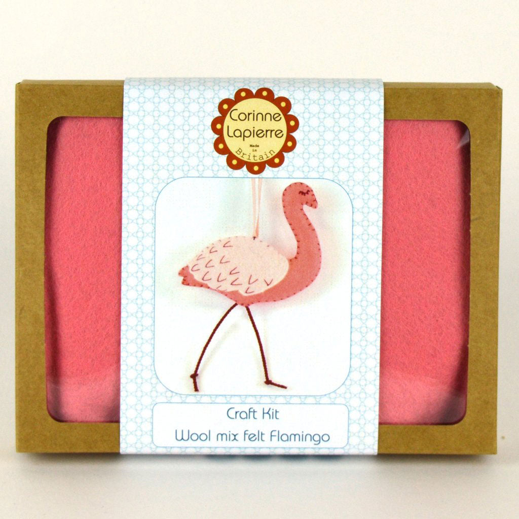 Corinne Lapierre Flamingo Felt Craft Kit Box